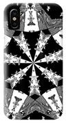 Children Animals Kaleidoscope Black And White IPhone Case