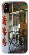 Chinatown Bicycle Vancouver IPhone Case