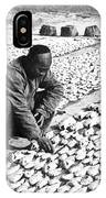 Chinese Man Drying Fish On The Shore - C 1902 IPhone Case