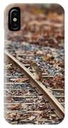 Chipmunk On The Railroad Track IPhone Case