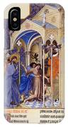 Christ Exorcising A Demon From A Possessed Youth: Illumination From The 15th Century Ms. Of The Tres Riches Heures Of Jean, Duke Of Berry IPhone Case