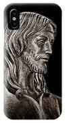 Christ In Bronze - Bw IPhone Case