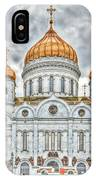 Christ The Saviour Cathedral In Moscow. The Main Entrance IPhone Case