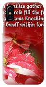 Christmas Card - Red And White Poinsettia IPhone Case