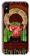 Christmas Card Wreath Color IPhone Case