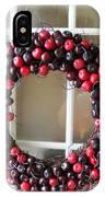 Christmas Cherry Wreath IPhone Case