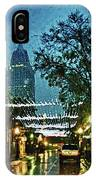 Christmas Lights Down Dauphin Street IPhone Case