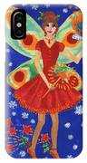 Christmas Pudding Fairy IPhone Case