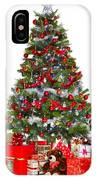 Christmas Tree And Presents Isolated On White IPhone Case