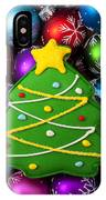 Christmas Tree Cookie With Ornaments IPhone Case