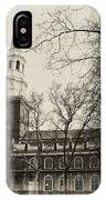 Christs Church Philadelphia In Sepia IPhone Case