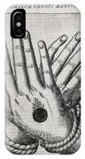 Christ's Stigmata, 17th Century IPhone Case