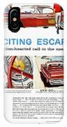 Chrysler Ad, 1959 IPhone Case