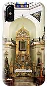 Church Interior In Puerto Vallarta IPhone Case