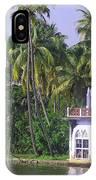 Church Located On A Coastal Lagoon In Kerala In India IPhone Case