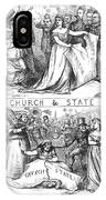 Church/state Cartoon, 1870 IPhone Case