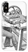 Cigar-making Machine, 1859 IPhone Case