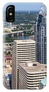 Cincinnati Panorama Aerial Skyline Downtown City Buildings IPhone Case