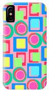 Circles And Squares IPhone Case