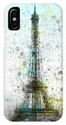 City-art Paris Eiffel Tower II IPhone Case