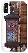 City Clock In Silver City Nm IPhone Case