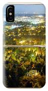 City Lights White Rustic Picture Window Frame Photo Art View IPhone Case