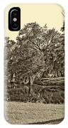 City Park Lagoon Sepia IPhone Case