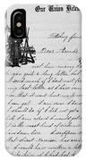 Civil War: Letter, 1862 IPhone Case