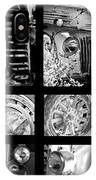 Classic Car Collage In Black And White IPhone Case
