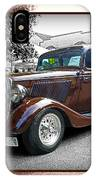 Classy Brown Ford IPhone Case