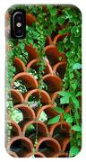 Clay Pattern Wall With Vines IPhone Case