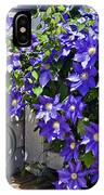 Clematis And Watering Can IPhone Case
