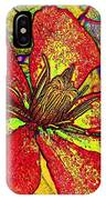 Clematis In Colored Pencil  IPhone Case