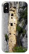Climber Near Prehistoric Cliff Dwelling IPhone Case