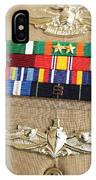 Close-up View Of Military Decorations IPhone Case