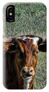 Closeup Of Texas Longhorn IPhone Case