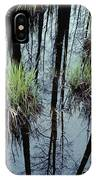 Clumps Of Grass In Water Reflecting IPhone Case