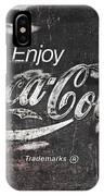 Coca Cola Pink Grunge Sign IPhone Case