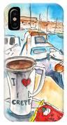 Coffee Break In Heraklion In Crete IPhone Case