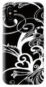 Coffee Flowers 1 Bw IPhone Case
