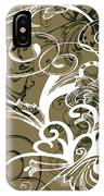 Coffee Flowers 1 Olive IPhone Case
