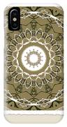 Coffee Flowers 1 Olive Medallion Scrapbook IPhone Case