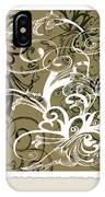 Coffee Flowers 1 Olive Scrapbook IPhone Case
