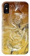Coffee Flowers 2 Calypso IPhone Case