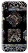 Coffee Flowers Ornate Medallions 6 Piece Collage Aurora Borealis IPhone Case
