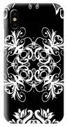 Coffee Flowers Ornate Medallions Bw Vertical Tryptych 2 IPhone Case