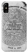Collation Ticket, 1824 IPhone Case