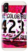 Color Run Number IPhone Case