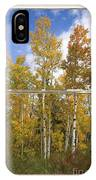 Colorado Autumn Aspens Picture Window View IPhone Case