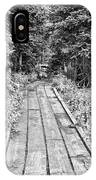Colorado Rocky Mountain Forest Path Bw IPhone Case